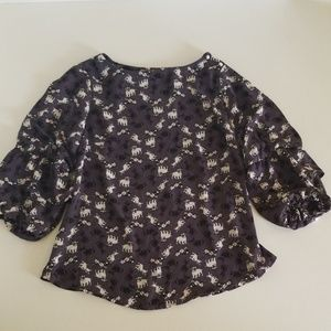 Monteau Dog Doggie Print Top Size Medium
